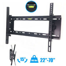 "Flat TV Wall Mount Bracket 15° Tilt Swivel For 27""32""37""42""47""55""60""65""70"" inch"