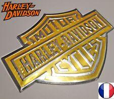 AUTOCOLLANT HARLEY DAVIDSON PLAQUE EMBLEME ALUMINUM LOGO ECUSSON HAUTE QUALITE