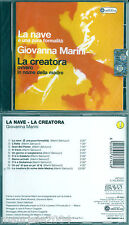 Giovanna Marini. La Nave  La Creatora (1996) CD NUOVO L'Italia. Gran Bel Paese