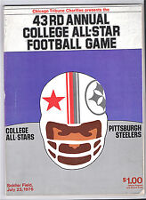 1976 -STEELERS (BRADSHAW) v.COLLEGE ALL AMERICANS @ SOLDIERS FIELD--PROGRAM--NMT