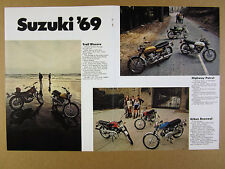 1969 Suzuki TS250 TC120 T500 T350 T250 T125 AC100 AS50 motorcycles vintage Ad