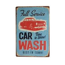 CAR WASH Metal Tin Sheet Metal Sign Vintage Picture Shop Wall Decor Plaque