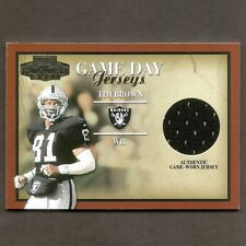 Tim Brown 2001 Playoff Honors Game Jersey GD-7 Oakland Raiders NFL Football Card