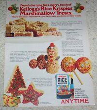 1977 - Kellogg's Rice Krispies Christmas sprinkles coconut marshmallow recipe AD