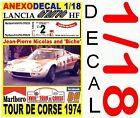 ANEXO DECAL 1/18 LANCIA STRATOS J-C. ANDRUET TOUR DE CORSE 1974 MxRLBORO (02)