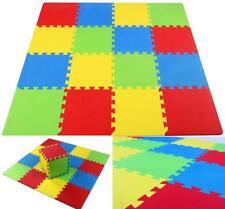 "Baby Play Mat Gym 16 Tiles 12"" Kids Soft Interlocking Foam Floor Puzzle Playmat"
