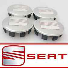 *WEEKEND SALE* SEAT SILVER ALLOY WHEEL CENTRE HUB CAPS IBIZA LEON CORDOBA  54mm