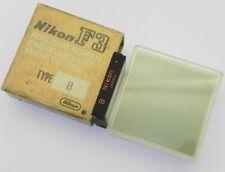 Nikon B Focusing Screen for F3  ........... MINT w/Box