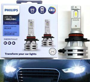 Philips Ultinon LED G2 6500K White 9006 HB4 Two Bulbs Head Light Low Beam Stock