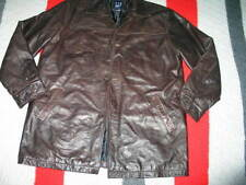 GAP men Long Leather jacket Large L