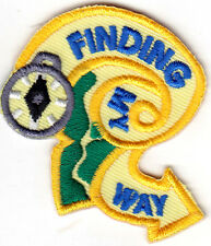 """""""FINDING MY WAY"""" - HOBBY - CAMPING - HIKING -COMPASS - Iron On Embroidered Patch"""
