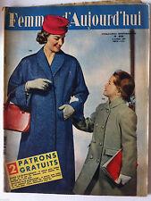 ?Femmes d'Aujourd'hui N°622 du 4/04/1957; Curd Jurgens/ Robes de Paris