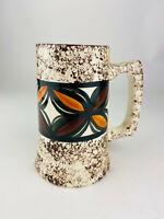 Handmade Tall Pottery Butterfly Art Hawaii March 1980 Coffee Tea Mug Cup