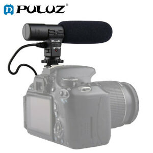 PULUZ 3.5mm Audio Stereo Recoding Interview MicroPhone for DSLR Cameras