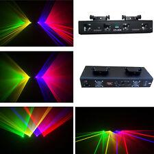 NEW ITEM 4 Lens 360mW RGYV DMX Laser Light Disco DJ  Stage Party Lighting