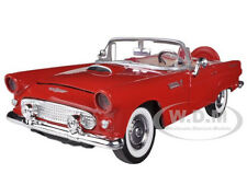 1956 FORD THUNDERBIRD CONVERTIBLE RED 1/24 DIECAST MODEL CAR BY MOTORMAX  73215