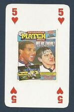 MATCH MAGAZINE-20 YEAR ANNIVERSARY COVER PLAYING CARD-ENGLAND QUALIFY!-5H
