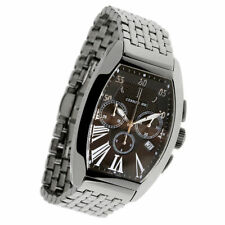 CERRUTI MENS GRANDE CLASSICO SWISS SS CHRONOGRAPH WATCH NEW CT67241X403041 BLACK