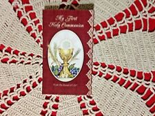 """NEW Prayer Holy Card & Medal """"MY FIRST HOLY COMMUNION""""  New in Pkg."""