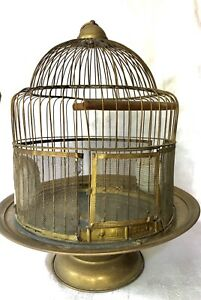 Vintage Brass Bird Cage LEON Manufacturing Co Patented