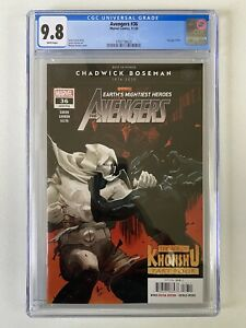 Avengers #36 CGC 9.8 1st Print White Pages Moon Knight Chadwick Boseman Tribute