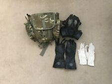 More details for british army respirator gsr 2 filters and bag size 4 (gloves size 9)