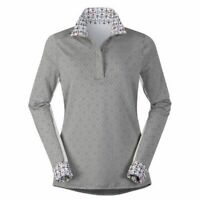 Kerrits Women's Tailor Stretch Show Shirt with Mesh Inserts and Printed Trimming
