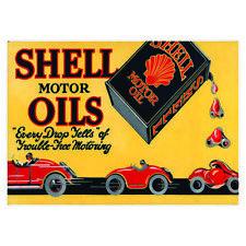 Vintage Shell Oils Petrol Oil Advertising Garage Sign Metal Shed Workshop