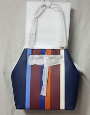 Tory Burch Bag 31406 Multi Center Stripe Kerrington Stripe Bucket Tote Agsbeagle