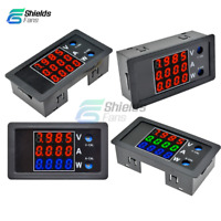 4 Digit High Precision DC 100V 10A 1000W Voltage Current Power Meter Multicolor