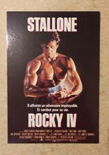 carte postale cinéma film ROCKY 4 Sylvester Stallone Dolph Lundgren