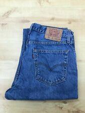 Men's Levi's 521 Straight Leg Blue Jeans W34 L32 (#A813)