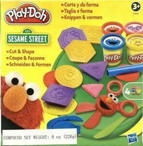 Band NEW Sealed Sesame Street Play-Doh Cut and Make Shapes Elmo Shapes Hasbro