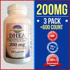 3Pak DHEA 200MG Dehydroepiandrosterone-Pharmaceutical Grade-Diet Aide 200 Caps