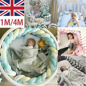 Baby Bed Knot Crib Bumper Plush Pad Protector Strip Cushion Bedding Gift Pillow
