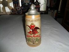Budweiser History Of Brewing Series Limited Edition Ii 1986 Stein