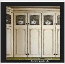 Lead glass Diamond cabinet door inserts