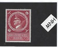MNH Adolph Hitler stamp / 1944 Birthday Third Reich issue / WWII Germany Sc B271