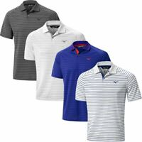 MIZUNO GOLF MENS QUICK DRY STRIPE LIGHTWEIGHT STRETCH GOLF POLO SHIRT