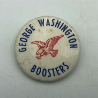 "Vintage GEORGE WASHINTON Boosters 1-3/4"" Button Pin Pinback E7"