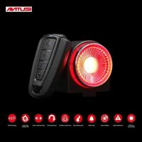 Bicycle MTB Rear LED Light With Remote Control Automatic Brake Anti Theft Alarm