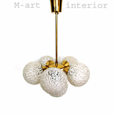 Italian 6 Ball Sputnik Chandelier Brass & Glass STILNOVO Style 1950´s 1960´s