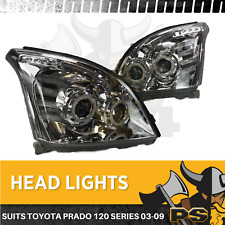 LED Headlights Pair Angel Eye to suit Toyota Prado 120 Series 02-09