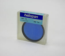 Heliopan 72mm KB12 (80C) Blue Filter.Brand New Stock.Clearance Prices!