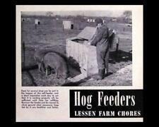 Automatic Hog Feeder Howto Build Plans 30 40 Hogs Swine