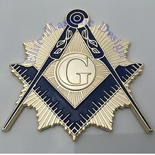 "New 3D..Masonic Master Mason Cut out Car, Multipurpose 3"" Nickel Gold emblem,"
