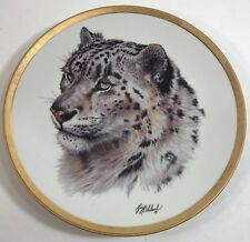 Guy Coheleach Lenox Plate 1994 Snow Leopard Great Cats Of World A2485 Excellent