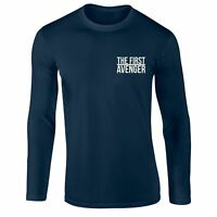 Captain America The First Avenger T-shirt Left Chest Embroidered Gift Longsleeve
