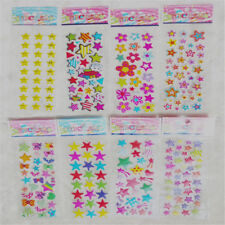 5Pcs/Lot Cute Star Flower Bubble Stickers Cartoon Kids Classic Toys Stickers KQ