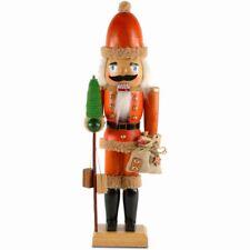 SIKORA Nußknacker Figur WEIHNACHTSMANN aus Holz 46cm